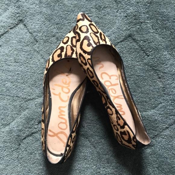 ae0efdd0b Sam Edelman Shoes - Sam Edelman - Leopard Print Flats Size 9.5
